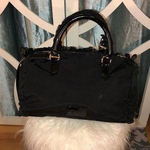 RED Valentino Patent Leather/Fabric Satchel